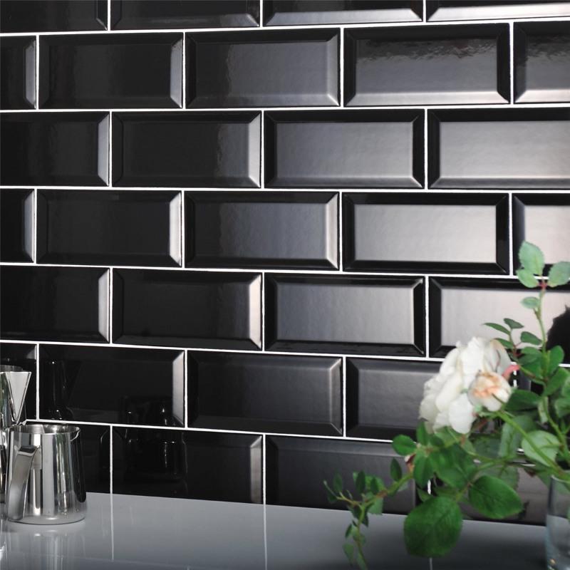 Metro Black Bevelled Tile The Tile Outlet Belfast Amp Newry