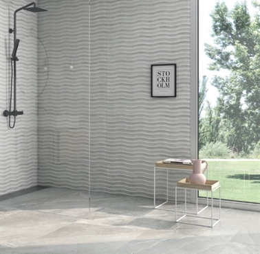Berlin White Polished 60x60cm Floor Tile